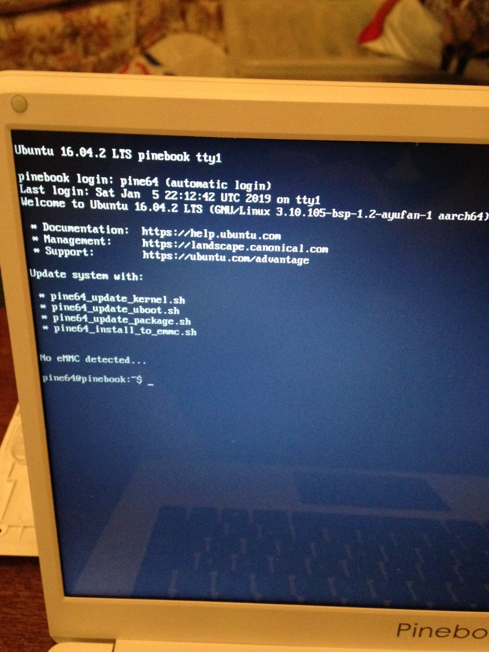 Problems putting Ubuntu (Xenial Mate) on my replacement eMMC