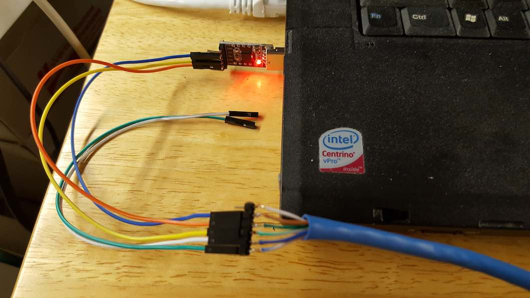 Cross-wired Uart Ports between two Pine Boards via Cat5 Cable
